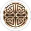 BTN/STK/BRNZ - Bronze Celtic Knot Lapel Button