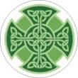 BTN/STK/GREN - Green Celtic Knot Lapel Button