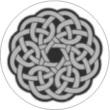BTN/STK/GREY - Grey Celtic Knot Lapel Button