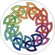 BTN/STK/RNBW - Rainbow Celtic Knot Lapel Button