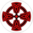 BTN/STK/RED - Red Celtic Knot Lapel Button