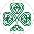 BTN/STK/SHAM - Celtic Knot Shamrock Lapel Button