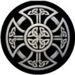 BTN/STK/SLVR - Silver Celtic Knot Lapel Button